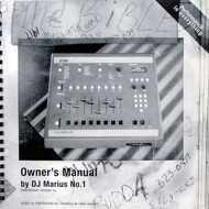DJ Marius No. 1 - Owner's Manual