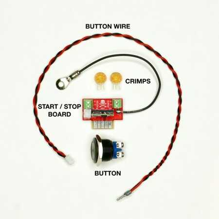 Jesse Dean Designs - JDDSSB - Digital Start Stop Button Kit (Black) (Stück)  | vinyl-digital com shop | en